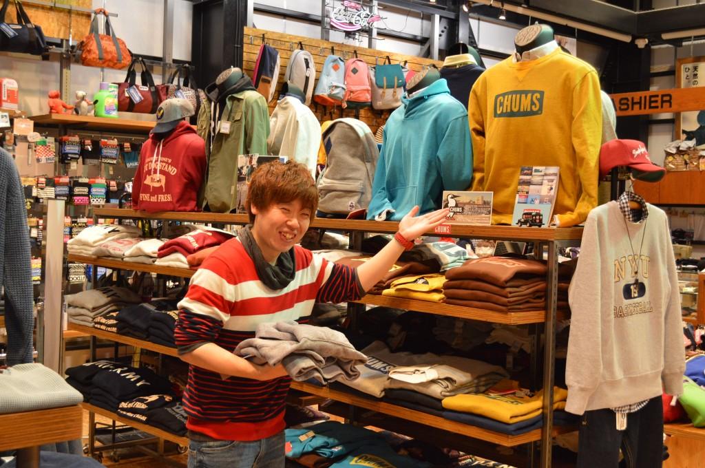 ROBIN JEANS BUG(ロビンジーンズバグ)山形天童のジーンズ・アメカジショップ CHUMS(チャムス)小物売り場ご紹介