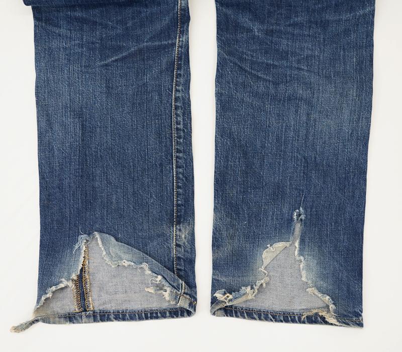 ジーンズ裾(かかと)部分リペア_Levi's(リーバイス)501