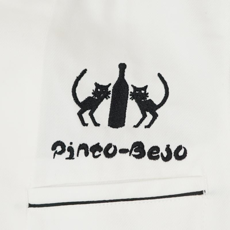 イタリア料理 ビストロ・ピントビージョ ロゴ刺繍 ブラウス&コックコート