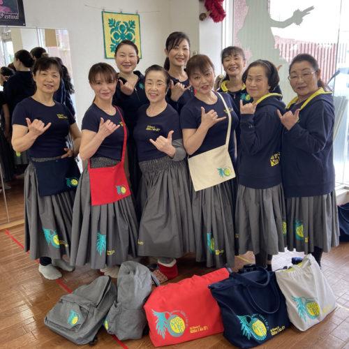 中川ミチコフラ教室 Na Mamo O Kulia I Ka Ui ジップトートバッグ|山形市 フラダンス教室