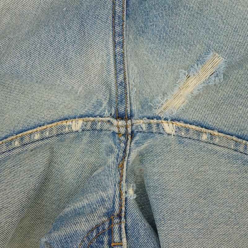 ジーンズ 股部分 破れ リペア(修理)|Levi's(リーバイス) 505 オレンジタブ