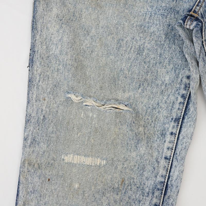 ジーンズ ひざ部分 破れ リペア(修理)|EDWIN(エドウィン)