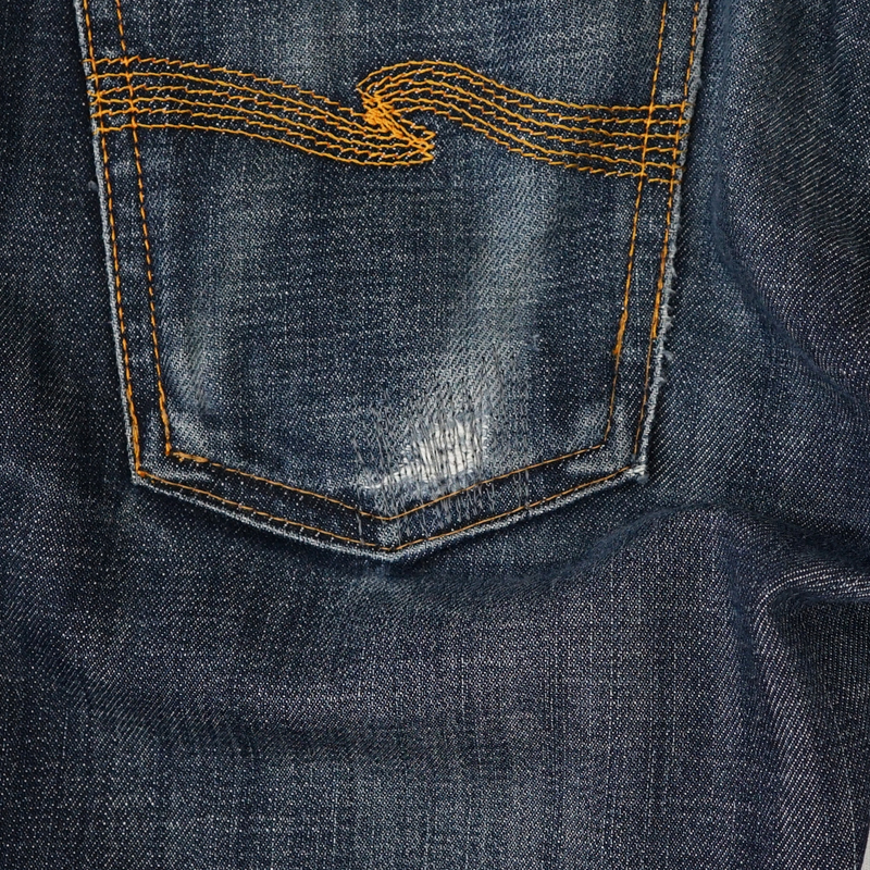 ジーンズ バックポケット部分 破れ リペア(修理)|Nudie Jeans(ヌーディージーンズ)