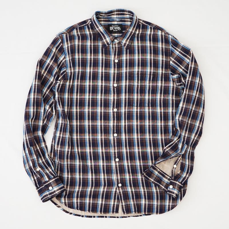 チェックシャツ 袖部分 破れ リペア(修理)|BEAMS(ビームス)