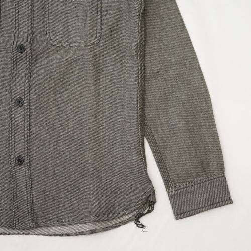 シャツの袖を短く丈詰め(修理)|HOUSTON(ヒューストン) ヘビービエラ ワークシャツ