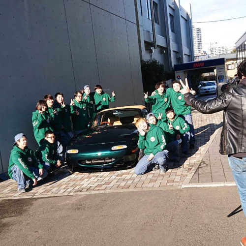 花壇自動車大学校 TOKYO AUTO SALON PROJECT 2021 スウェットパーカー|宮城県 仙台市 専門学校