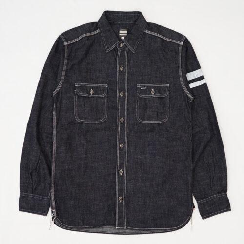 シャツの襟をバンドカラーにリメイク(お直し)|MOMOTARO JEANS(桃太郎ジーンズ) 出陣 デニムシャツ