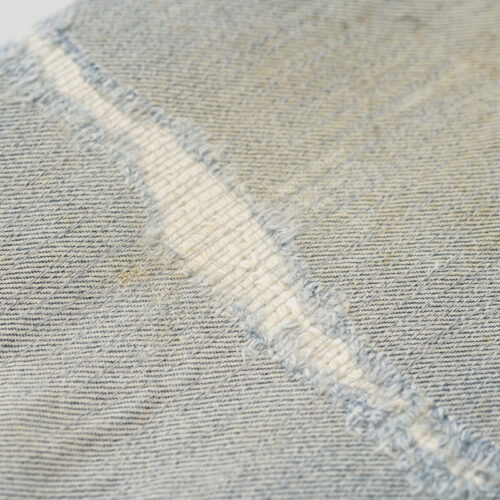 ジーンズ ひざ部分 破れ お直し(修理)|EDWIN(エドウィン) YT1415 インターナショナルベーシック